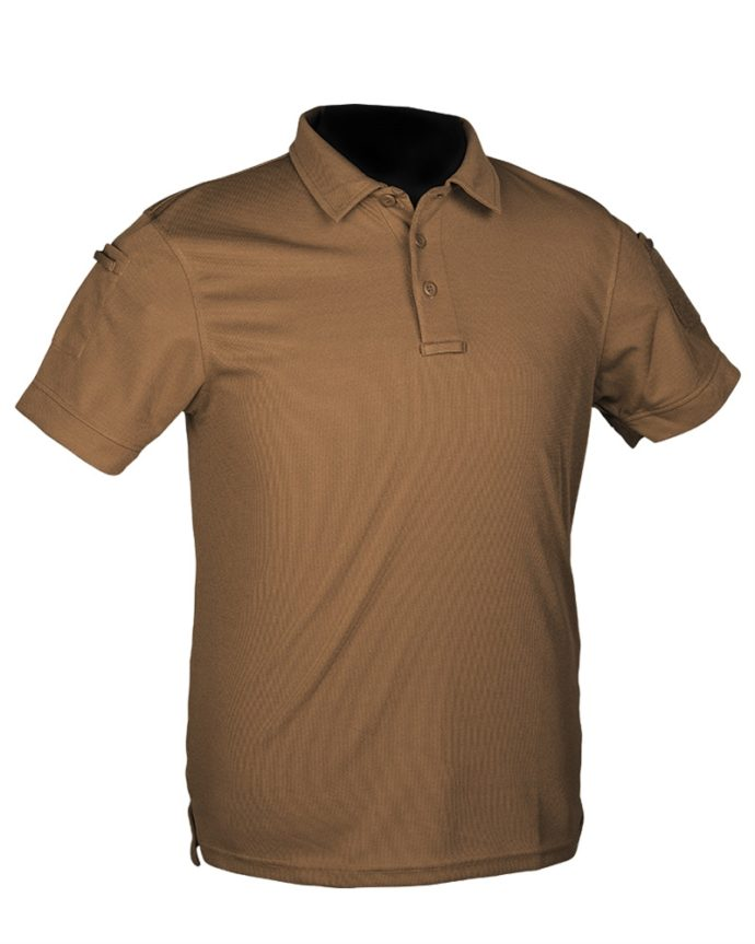 Mil-Tec Tactical Short Sleeve Polo Shirt Quick Dry DARK COYOTE